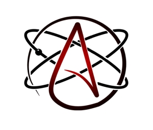 Customized Atheist symbol by Marc Poulin. http://www.thinkatheist.com/profile/MarcPoulin